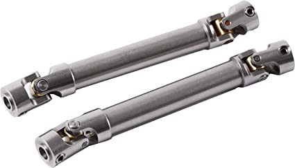 2Pc Universal CVD Drive Shaft 110-155mm Stainless Steel for 1//10 RC Crawlers
