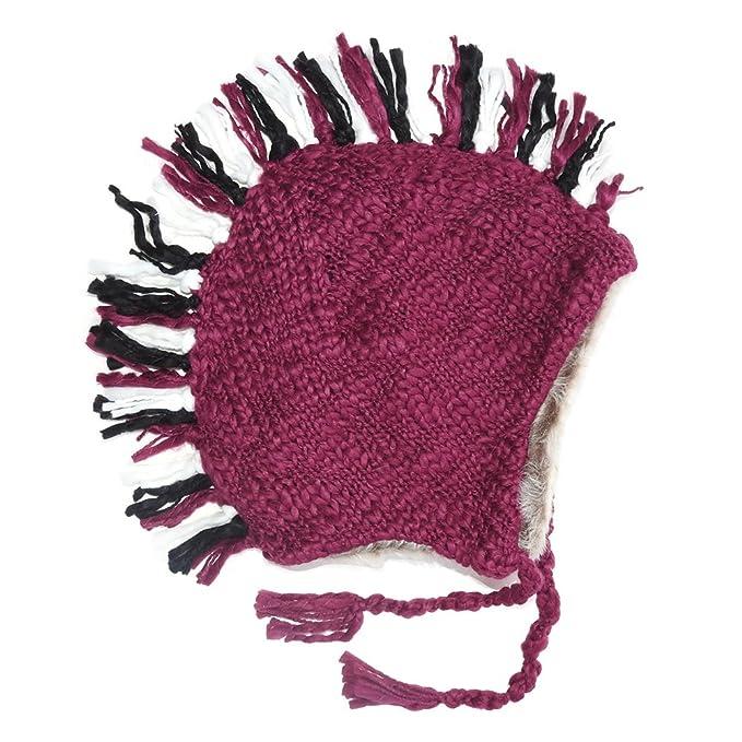 RSG Adult Fur Mohawk Ski Snowboarding Thick   Warm Knit Beanie Cap Hat ( a444e23c469a