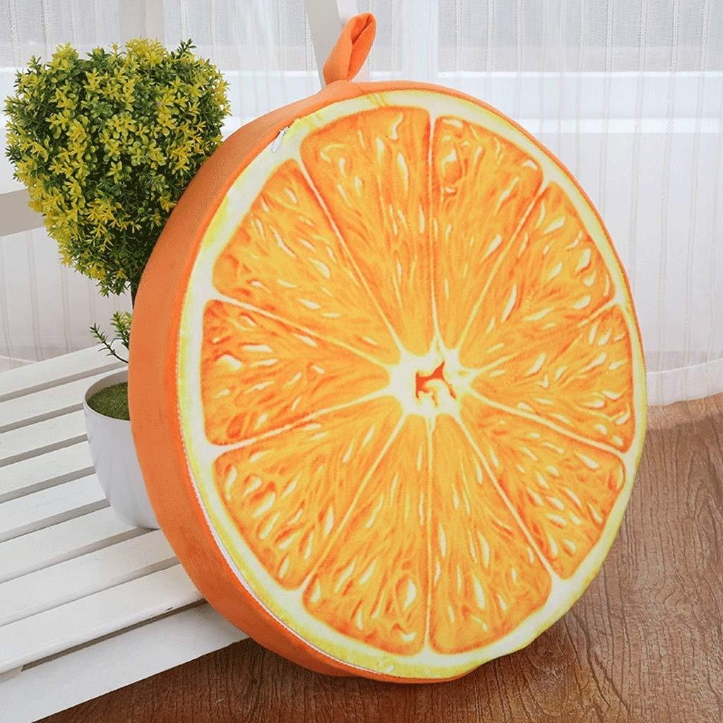 RXF Cuscino Rotondo Cuscino sfoderabile e Lavabile Cuscino da Pranzo per la casa Cuscino da Ufficio per Frutta con Simulazione di Tappetino Tatami -38x6cm (Colore : 4)