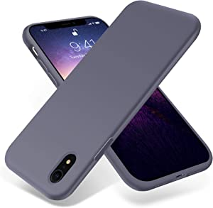 OTOFLY for iPhone XR Case, [Silky and Soft Touch Series] Premium Soft Silicone Rubber Full-Body Protective Bumper Case Compatible with Apple iPhone XR - Lavender