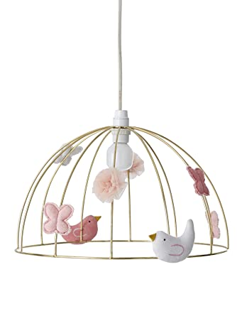 VERTBAUDET Suspension Cage à oiseaux Doré TU: Amazon.fr ...