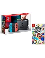Nintendo Switch 32Gb Neon-Rot/Neon-Blau + Super Mario Party