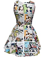 Women's Hemet Comic Strip Skater Dress III