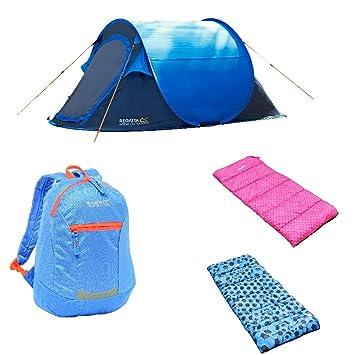 Regatta Kids smartphonez - 1 tienda/2 sacos de dormir/1 mochila: Amazon.es: Deportes y aire libre
