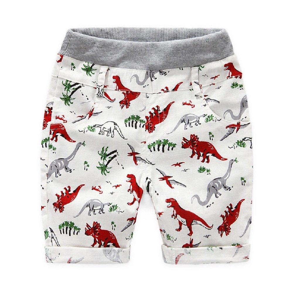 Yilaku Toddler Boys Shorts Summer Baby Boy Clothes Cartoon Kids Clothing Dinosaur 2-7Y Ltd CI031