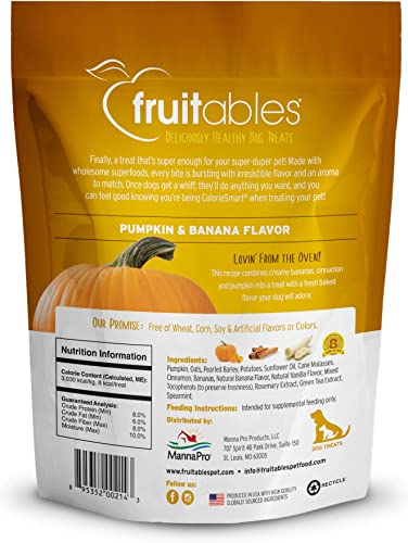 Fruitables Dog Treats Pumpkin Banana Flavor, 7 oz