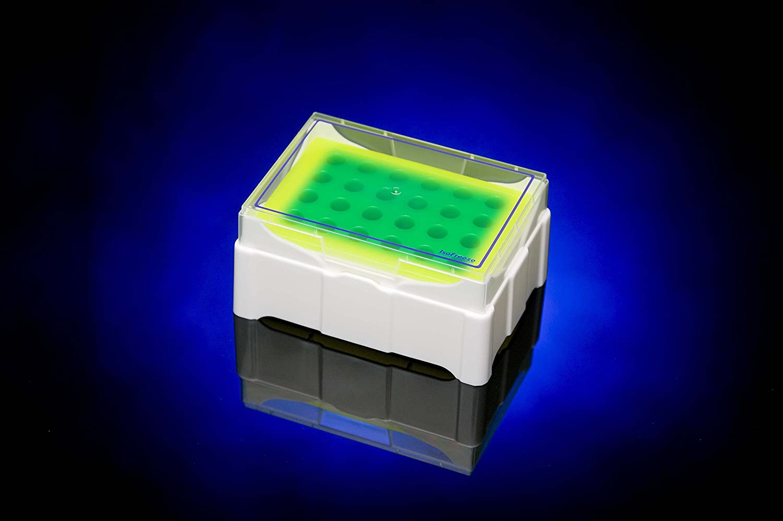 24 Tube Capacity IsoFreeze Micro-Tube Chillers 1.5-2.0 ml Tubes Green//Yellow Indicator