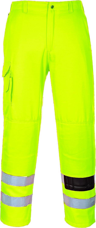 Giallo Portwest E046 Pantalone Combat ad Alta Visibilit/à XS