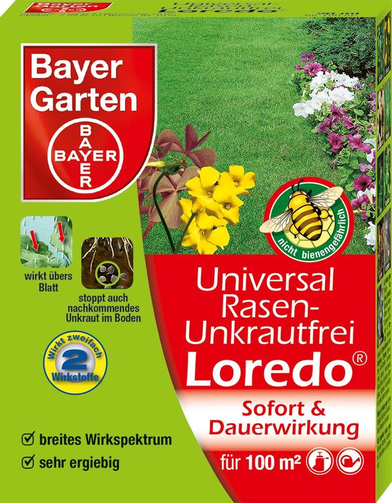 Bayer Garten Universal Rasenunkrautfrei Loredo Rasen Unkrautvernichter,  Beige, 40 Ml: Amazon.de: Garten