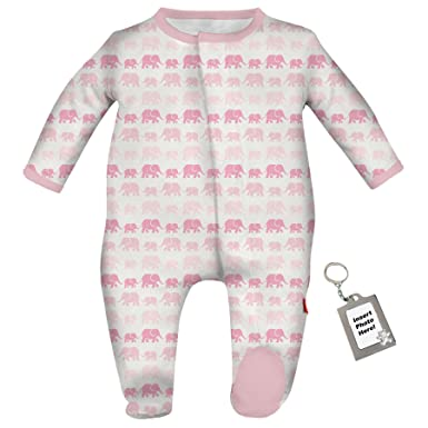 a900518da Amazon.com  Magnetic Me Modal Girls Baby Footie Pink Elephant Footed ...