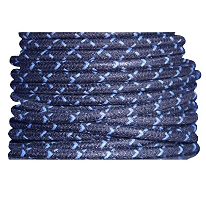 Amazoncom Cloth Braided Primary Wire Black With Blue Tracers 12