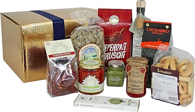 Cesta de Navidad con productos típicos del sur de Italia: Amazon ...