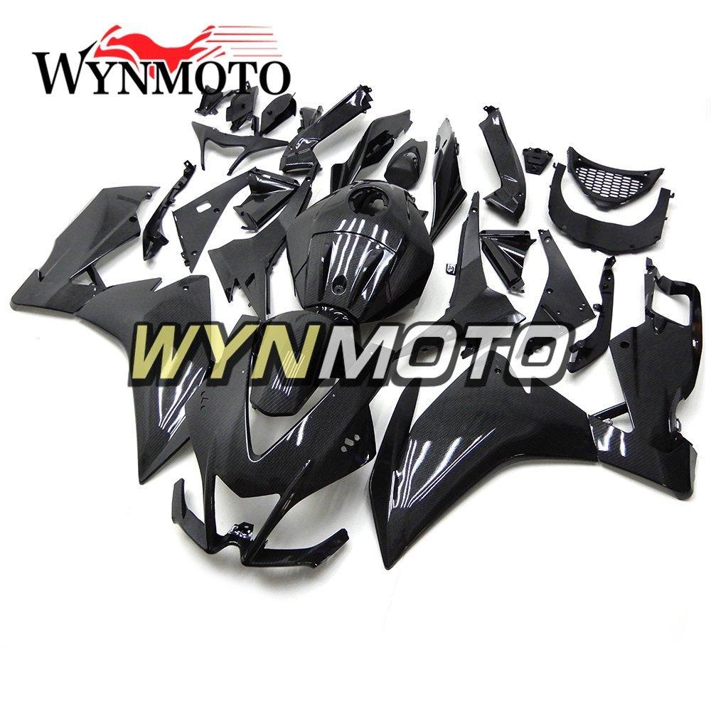 WYNMOTO 炭素繊維効果外装部品セット適合アプリリア RS125 RS4 125 RS4 50 2012-2014 ABS プラスチック射出フェアカバー   B07KPXW6RJ