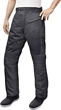 4XL Black//Grey Motorcycle Textile Riding Pants with Removable CE Armor
