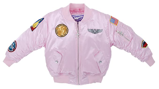 25f100e2f Up and Away Girls' MA-1 Flight Jacket