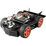 SunFounder Raspberry Pi Car Robot Kit, 4WD HAT Module, Ultrasonic Sensor, Velocity Measurement Module etc. Electronic DIY Rob