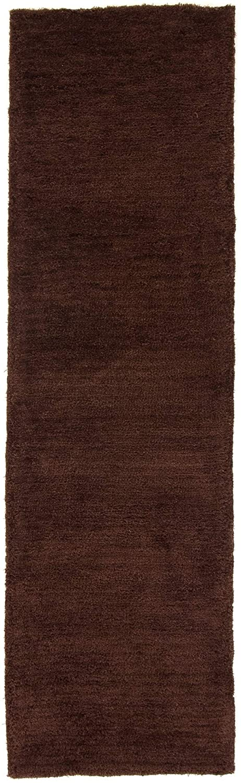 CarpetFine  Hochflor Softly Läufer Teppich 80x300 cm Braun - Einfarbig