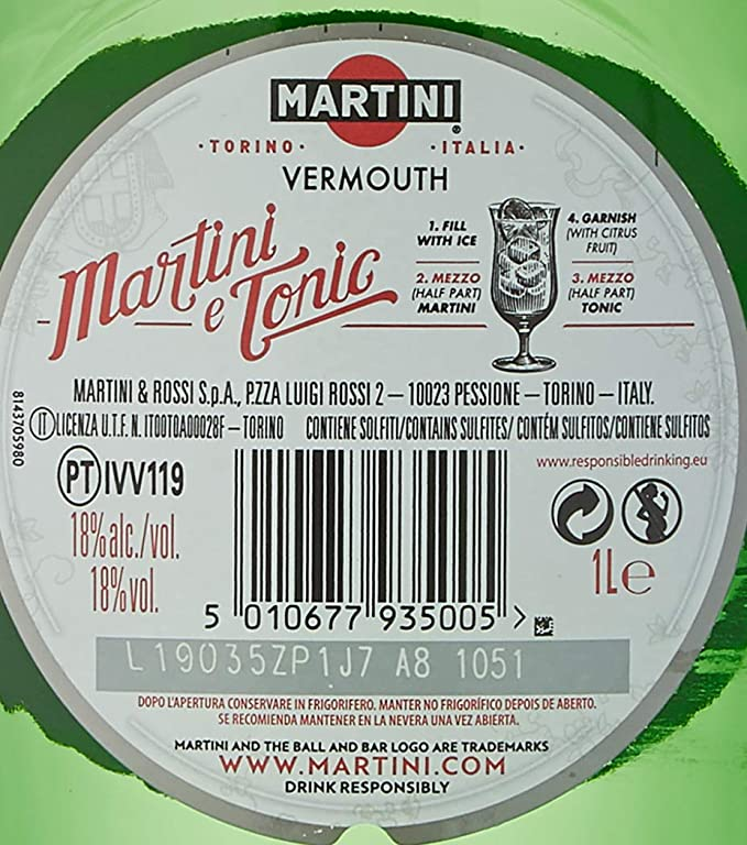 Martini Vermouth Extra Dry - 1000 ml