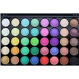 Tefamore Paleta De Sombra De Ojos 40 Colores De Polvos Cosméticos En Maquillaje Conjunto De Mate Disponible(Popfeel )