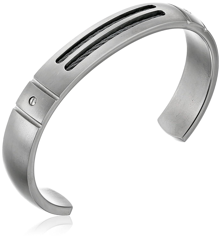Edward Mirell Cable Sport Men's Titanium Cuff Bracelet Quality Gold Inc. Parent Code EMB117