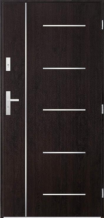 Cortez Steel Front Entry Door Exterior Modern Doors Entry Doors Wenge Amazon Com