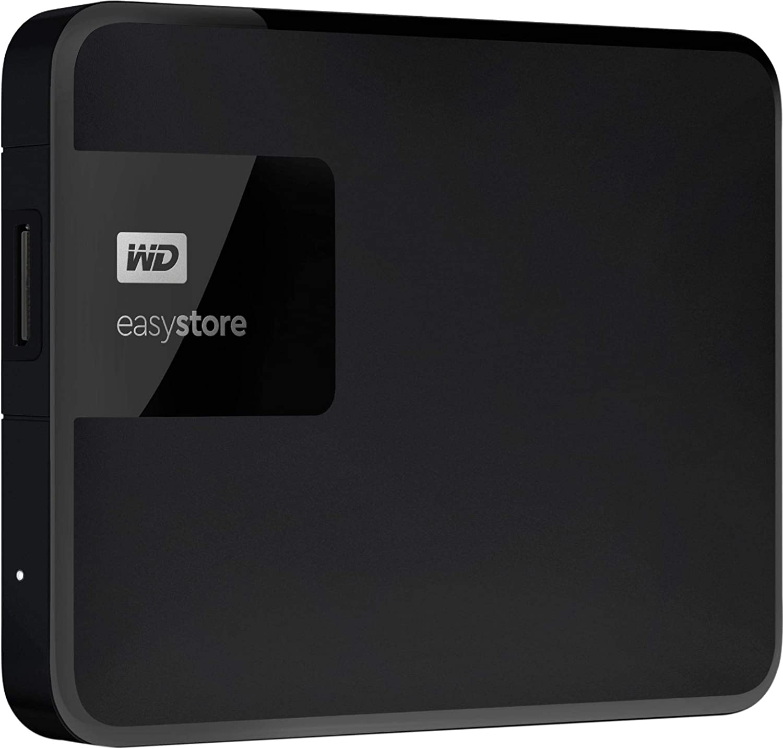 WD - Easystore 5TB External USB 3.0 Portable Hard Drive - Black