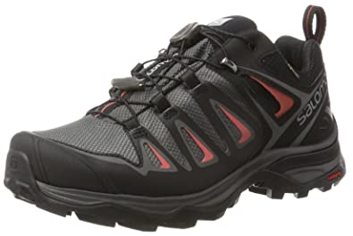 Salomon X Ultra 3 GTX Hiking Shoe - Womens Magnet/Black/Mineral Red,