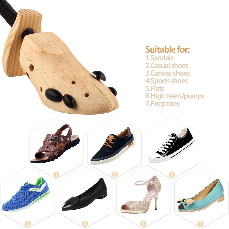 color Katomi Un par de zapatos /Árbol Camilla Shaper Largo y Ancho 8/~ 14//100/% genuino wood-complete con dos tapones de alivio de presi/ón talla Talla S