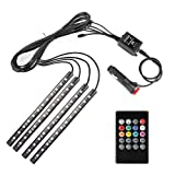 Amazon Price History for:Minger Car LED Strip Light,4pcs DC 12V Multi-color Car Interior Music Light LED Underdash Lighting Kit with Sound Active Function and Wireless Remote Control, Included Car Charger