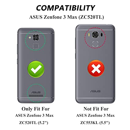 kazineer Funda de Cuero para ASUS Zenfone 3 MAX, Premium Cartera de Piel [Ranura para Tarjetas] [Soporte Plegable] [Correa de Muñeca Desmontable] ...