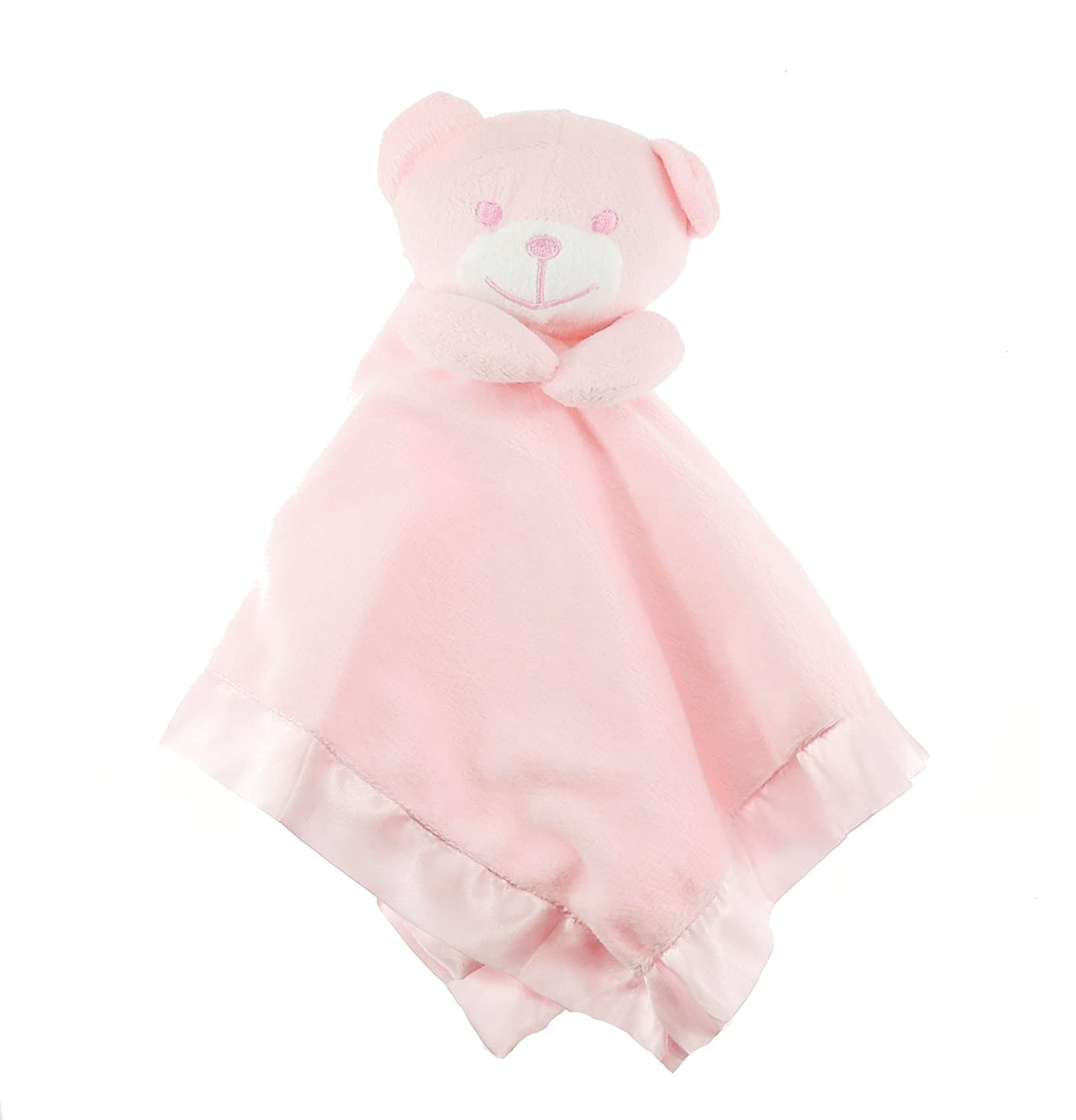 Gorgeous Soft Baby Girls Boys Security Teddy Bear Smiley Face Comforter Blanket Pink Glamour Girlz