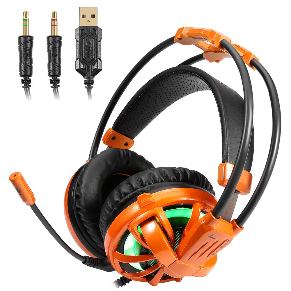 Gaming Headset 71 Surround Sound Earphone With Led Light Switch Wiring Game Noise Isolating Over Ear Headphone Stereo Bass Mic For Pc Home Audio