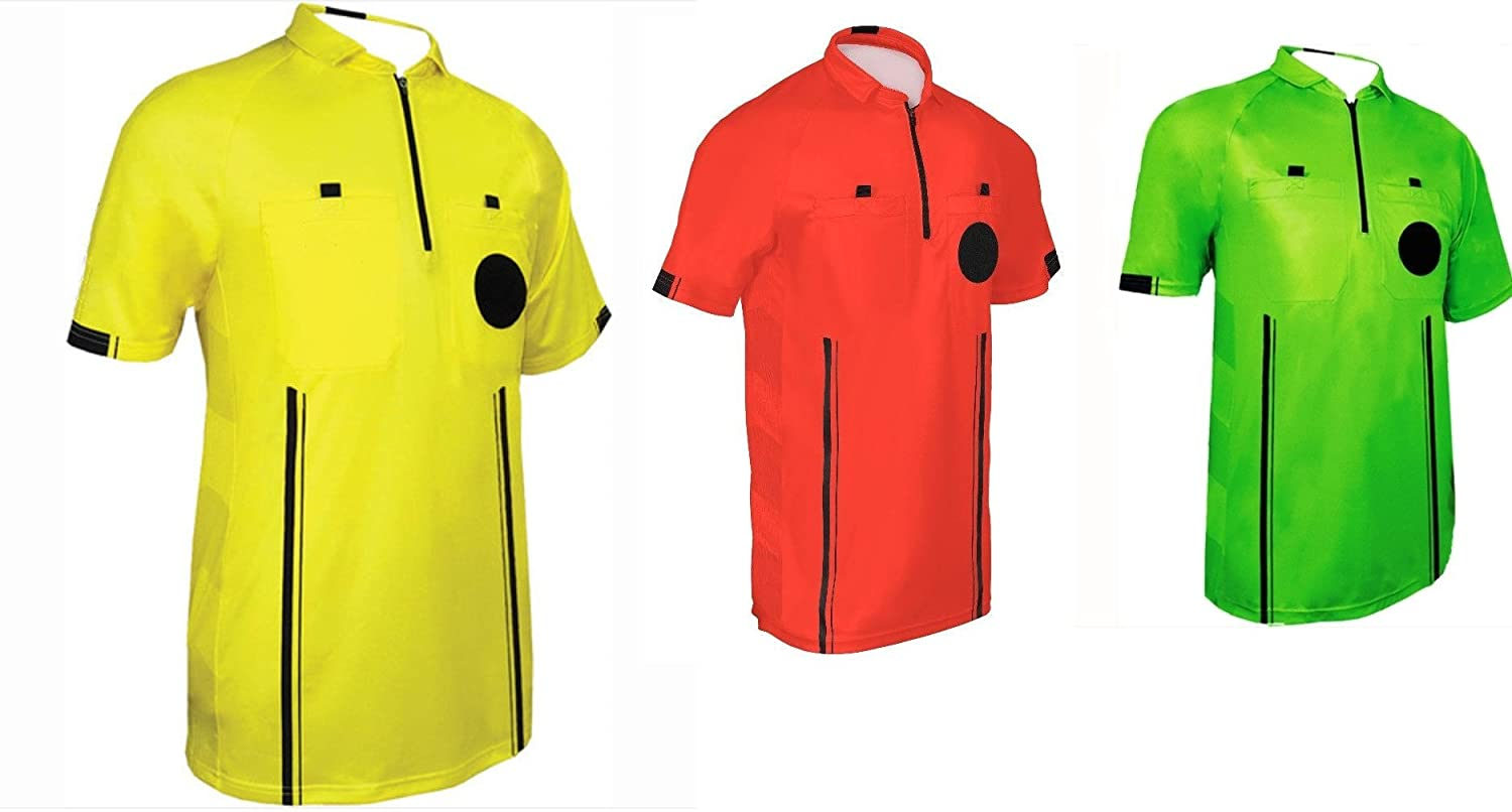 3119caa17 Amazon.com   One Stop Soccer Official Referee Soccer Jersey   Sports    Outdoors