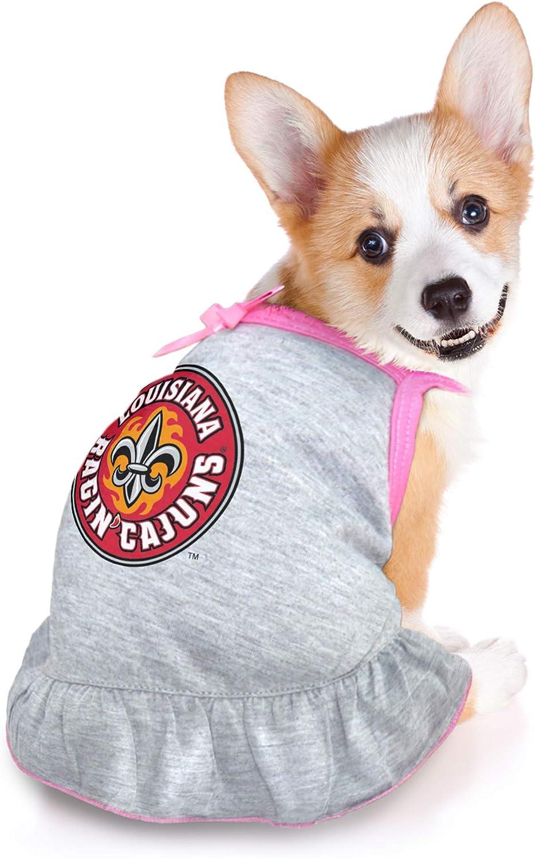 Medium Littlearth NCAA Louisiana Lafayette Ragin Cajuns Pet Dress