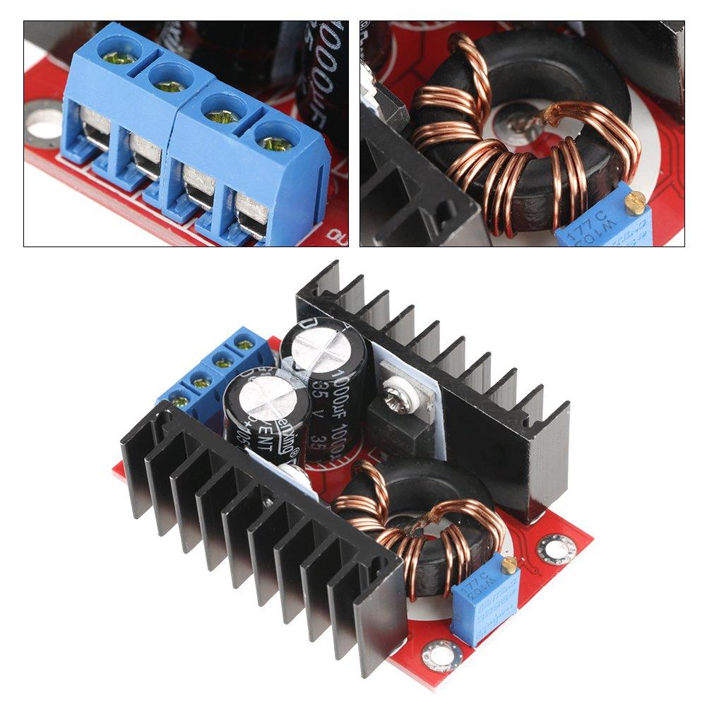 Nannday Module de renforcement Non Isolant convertisseur de Puissance 150 W CC-CC Module de renforcement de lalimentation /à Tension Ajustable 12-32V /à 12-35V