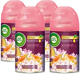 Air Wick Life Scents Freshmatic 4 Refills Automatic Spray, Summer Delights, (4X6.17oz), Air Freshener