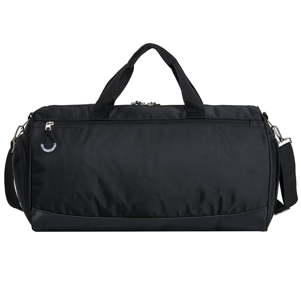 Eocean Dry Wet Depart Duffle Bag Sports Gym Bag with Shoes Compartment Waterproof Gym Sports Bag for Men and Women Black
