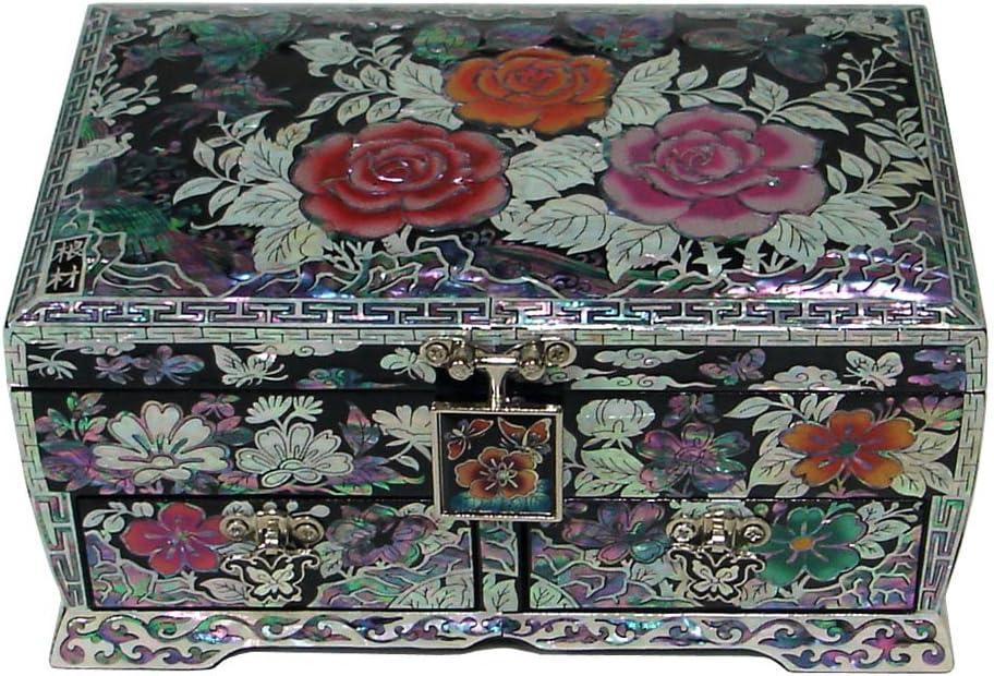 Sandstone Trinket Box Flower Jewelry Box Stash Box Mother of Pearl