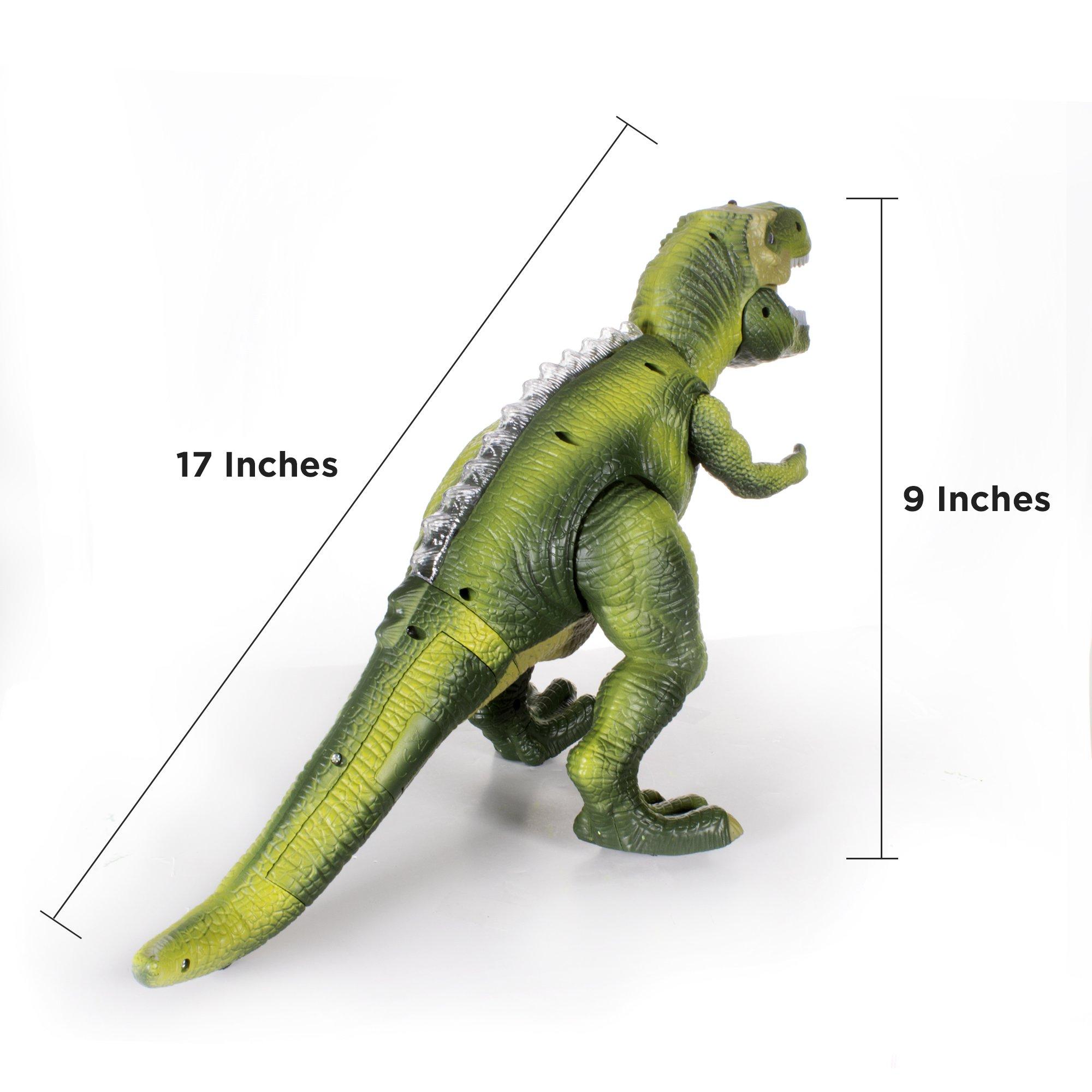 Windy City Novelties Led Light-Up Walking & Roaring T-Rex Dinosaur Toys for Boys & Girls (T-Rex with Remote) by Windy City Novelties (Image #6)