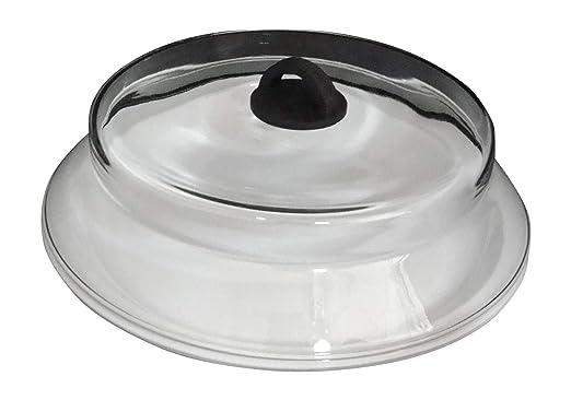 Catamount tapa de microondas de vidrio negro con placa de ...