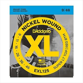 Juego de cuerdas para guitarra eléctrica Daddario EXL125