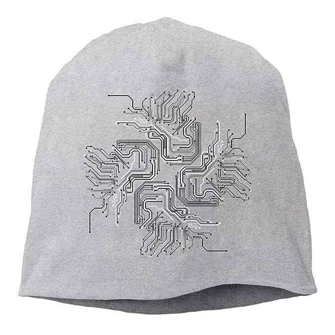 8b61e4a375c zhonghewenhuachuanmei Top Level Beanie Hat for Men Women Knit Hat Electric  Circuit Cotton Skull Cap  Amazon.ca  Clothing   Accessories