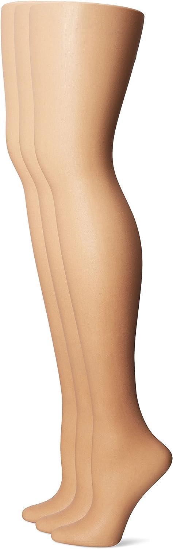 No Nonsense Women's Control Top Pantyhose 3-pack