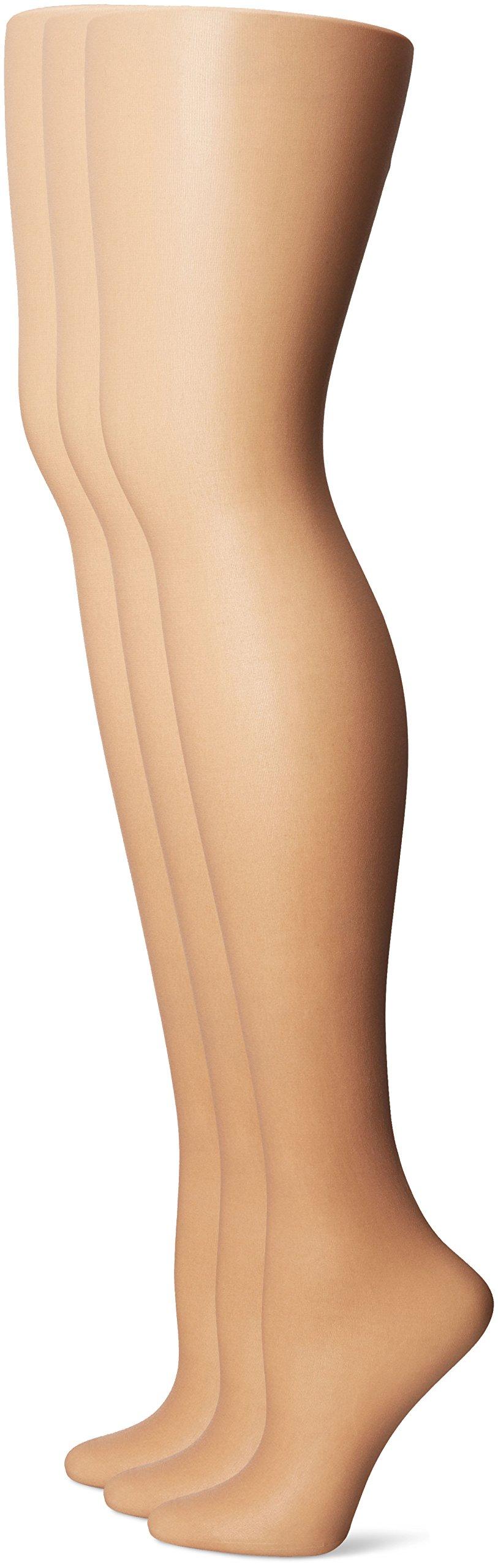 No Nonsense Women's Control Top Pantyhose 3-Pack, Tan, A