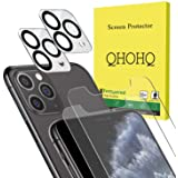 [4 Pack] QHOHQ 2 Pack Tempered Glass Screen Protector +2 Pack Tempered Glass Camera Lens Protector for Apple iPhone 11…