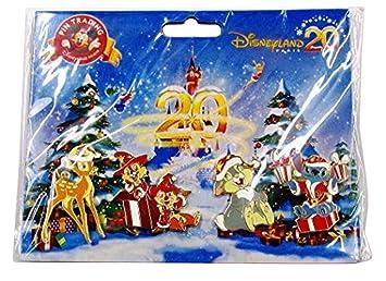 DLP Disneyland París XX Navidad Noel Booster Disney Bambi pines juego de 4 chip Dale Thumper