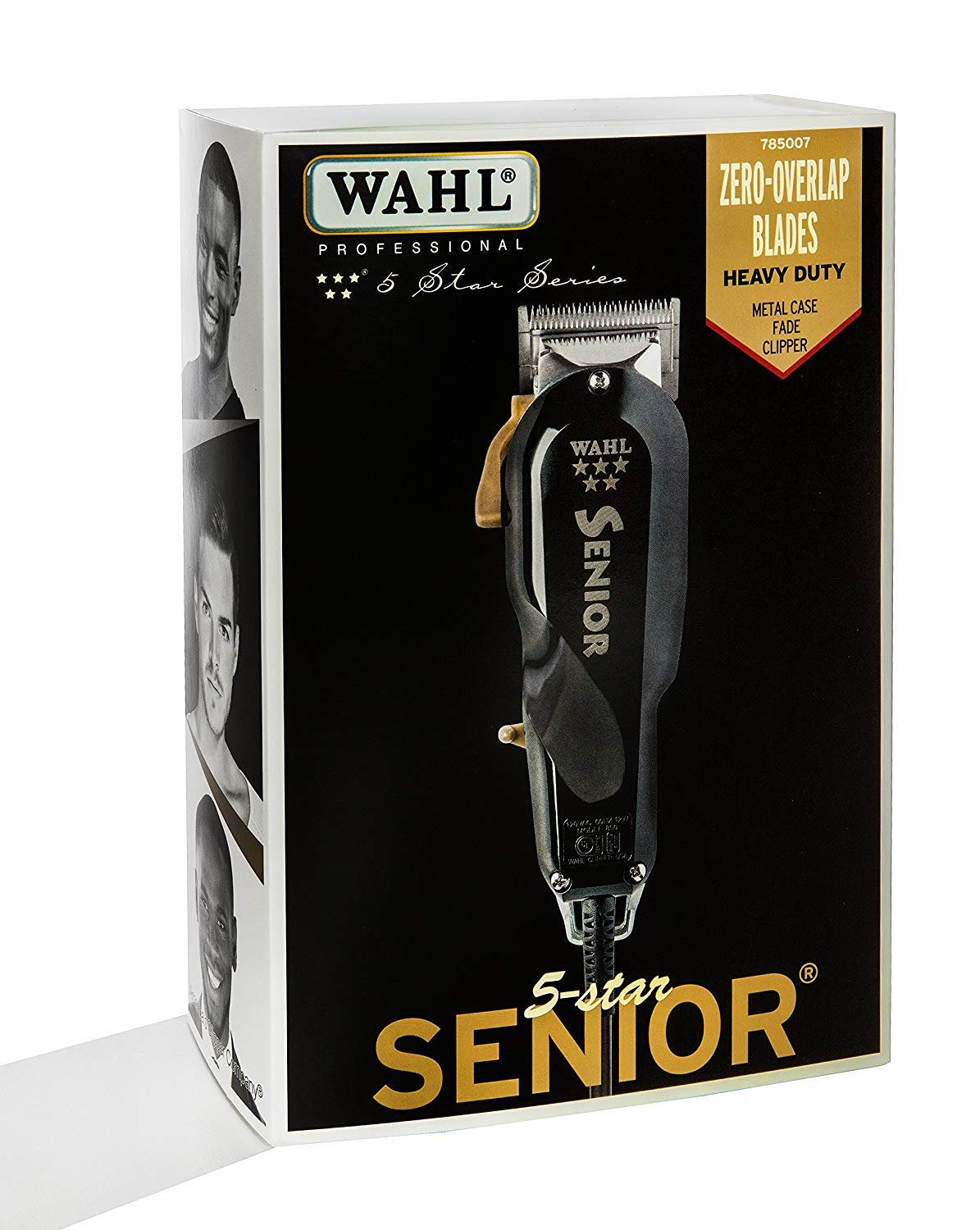 Wahl Professional 5-Star Series Senior Clipper #8545 - Great for Professional Stylists and Barbers - V9000 Electromagnetic Motor - Black --Aluminum metal bottom housing by Wahl Professional