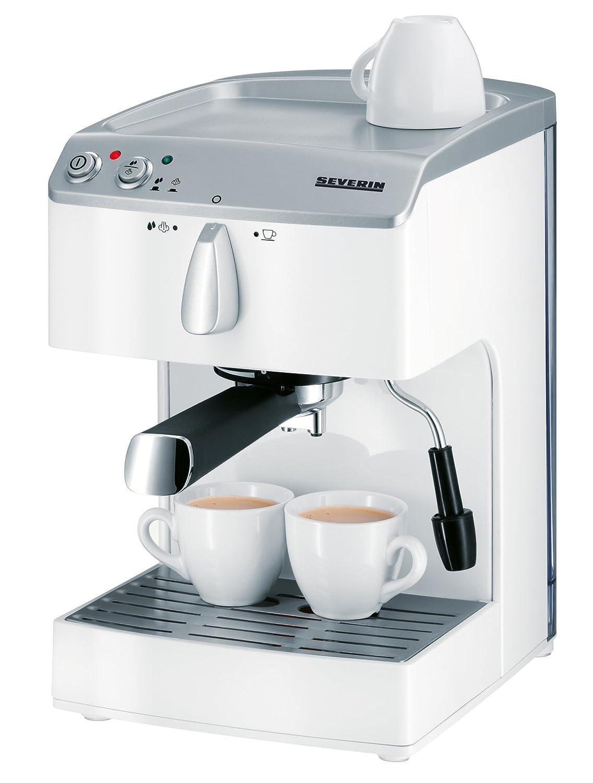 Severin KA 5987 Macchina per Caffè Espresso, 1050 W, Bianco 117827 Caffettiera caffè
