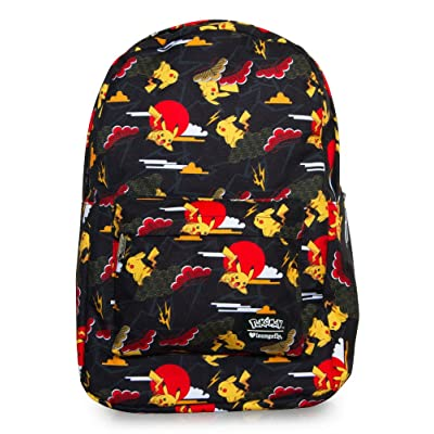 durable modeling Pokemon Pikachu Cloud Print Backpack