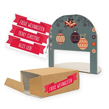 Itenga Geschenkverpackung Geldgeschenk Weihnachten